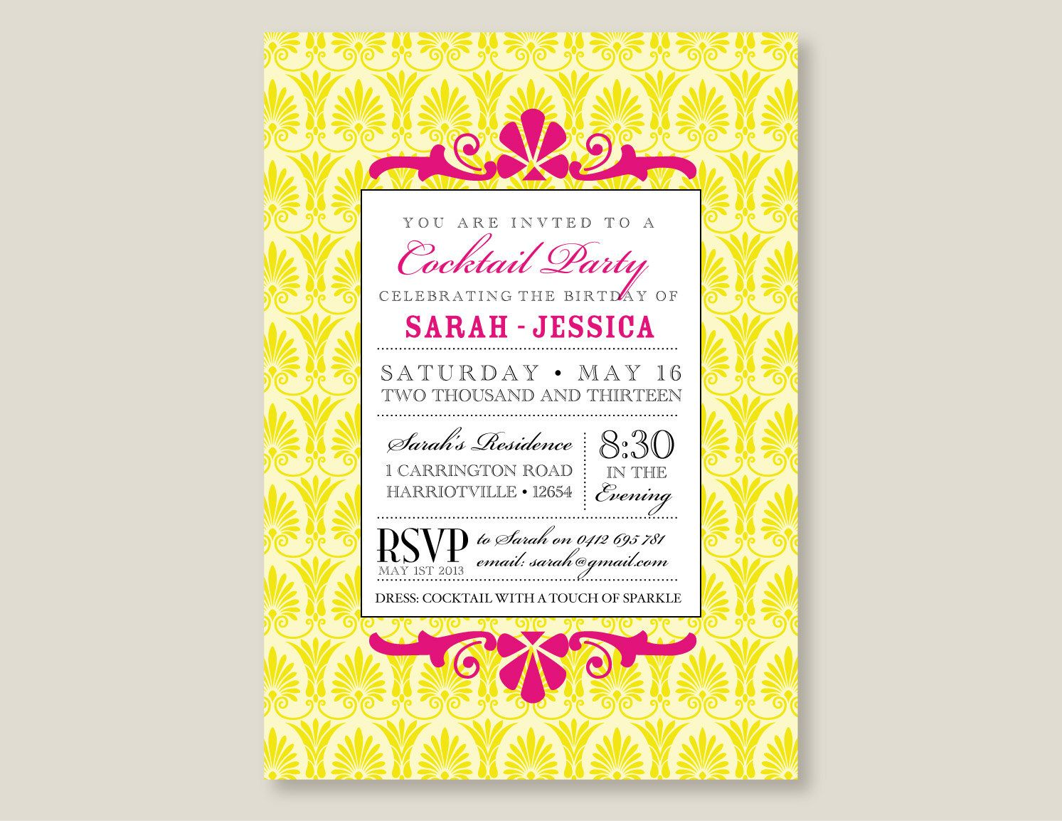diy cocktail party invitation customize and print at home 17 00
