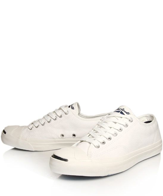79b00f18f51a Converse Cream Jack Purcell Leather Trainers