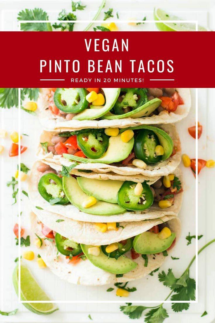 Vegan Pinto Bean Tacos