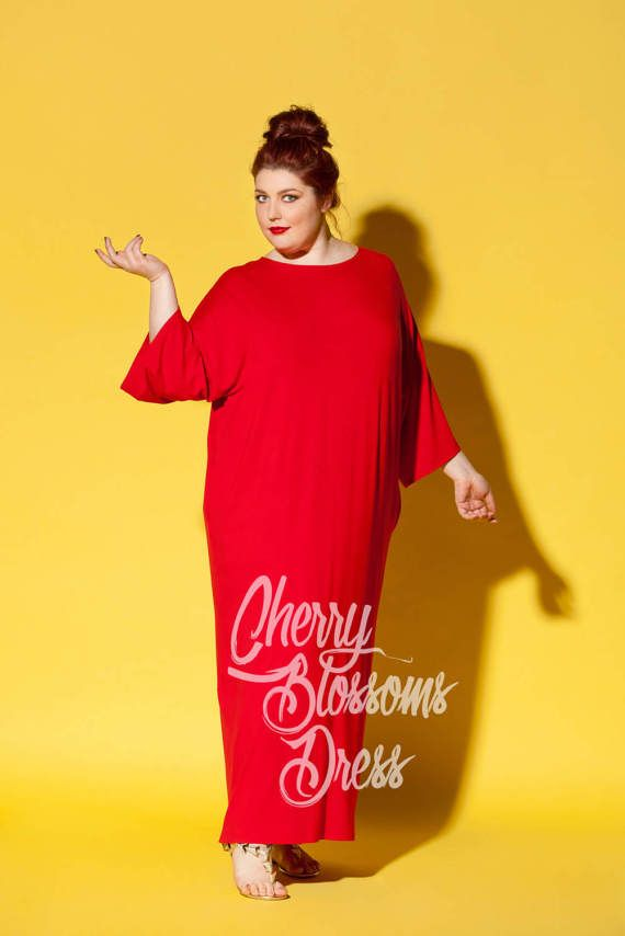Red maxi dresses plus size