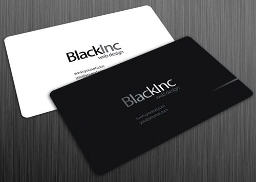 Neat and cool collection of black and white business cards black and white business cards google search colourmoves Images