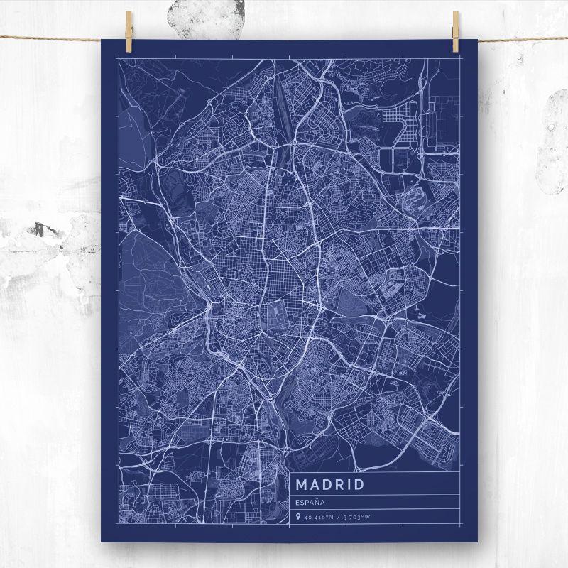 Mapa de estilo Blueprint de Madrid FRAME IT! Pinterest - new book blueprint cafe
