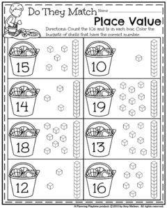 math worksheet : summer kindergarten worksheets  worksheets kindergarten and  : Kindergarten Place Value Worksheets