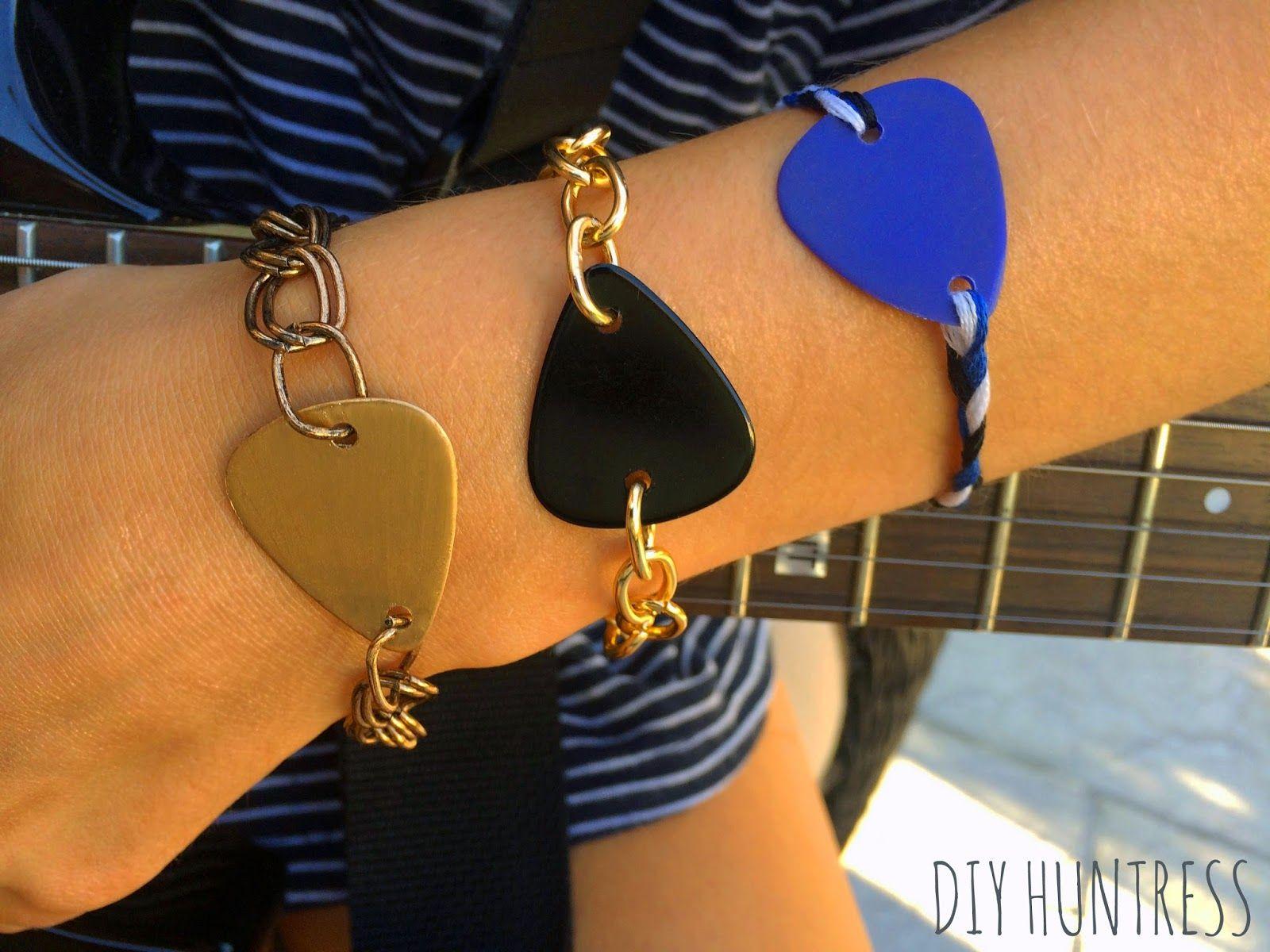 Diy Huntress Diy Guitar Pick Bracelet Guitar Pick Jewelry Accessories Diy Jewelry Guitar Jewelry