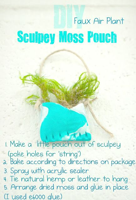 Really cool little clay pouches made with sculpey!