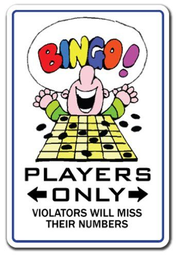 BINGO PLAYER ~Novelty Sign~ card chips players gift