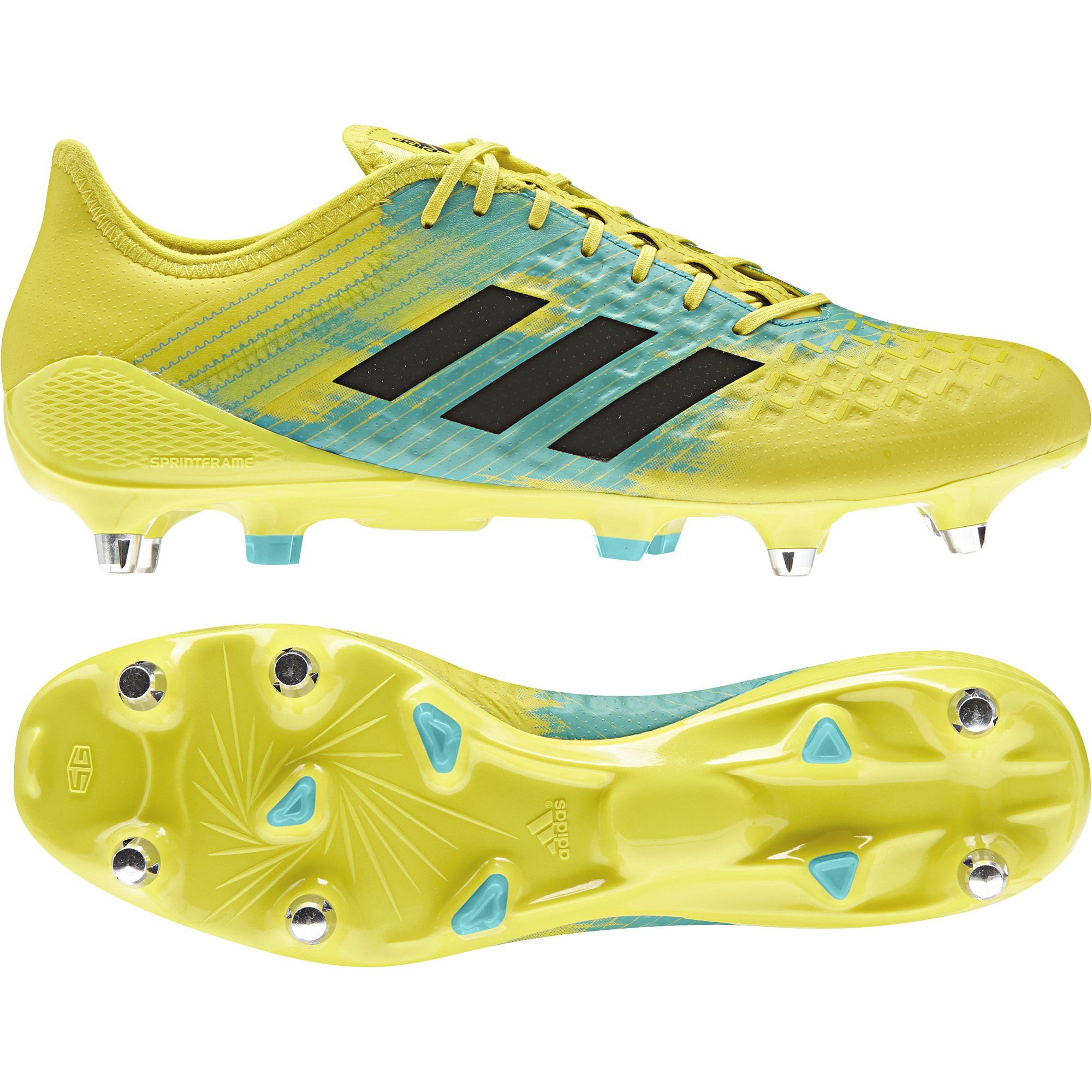 shopping size 7 amazing price Adidas Predator Malice Control SG Rugby Boots Yellow ...