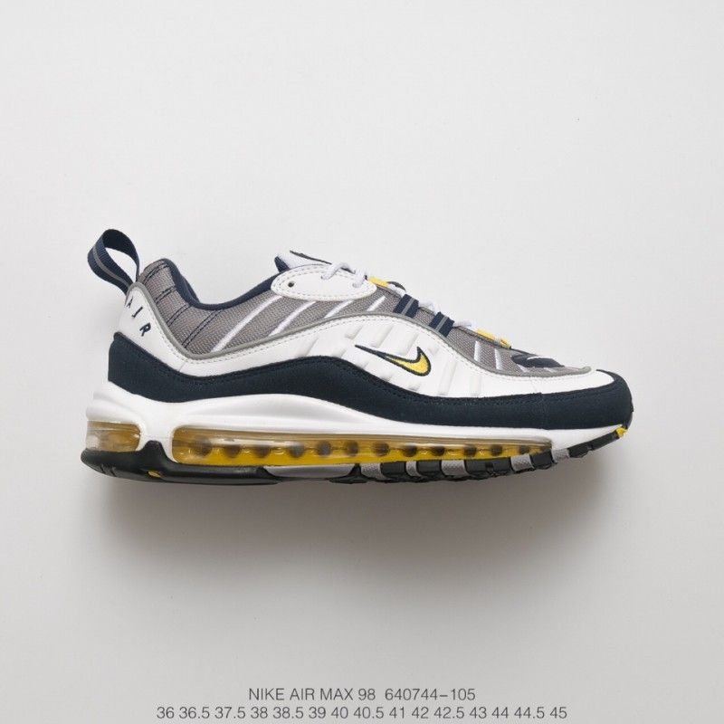 Details about NEW Nike Air Max 98 OG Tour Yellow Navy White EUR 36 45 640744 105