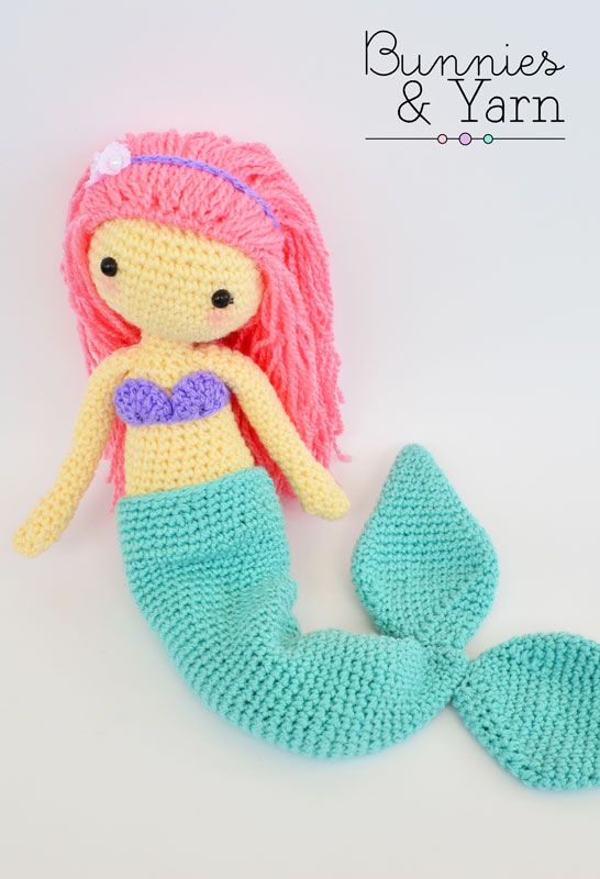 CROCHET PATTERN in English - Mindy the Mermaid Doll - Amigurumi Doll ...