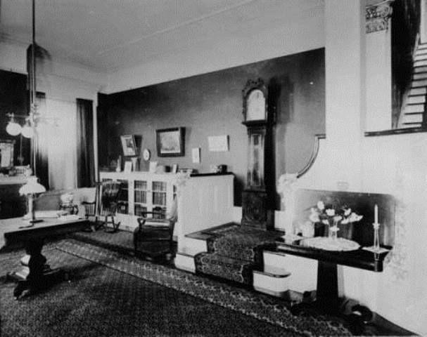 1910 The Parlor Living Room Of Harwood Female Seminary Kennesaw Ave Marietta Ga Originally Maj Archibald Howell Home Home Marietta Room