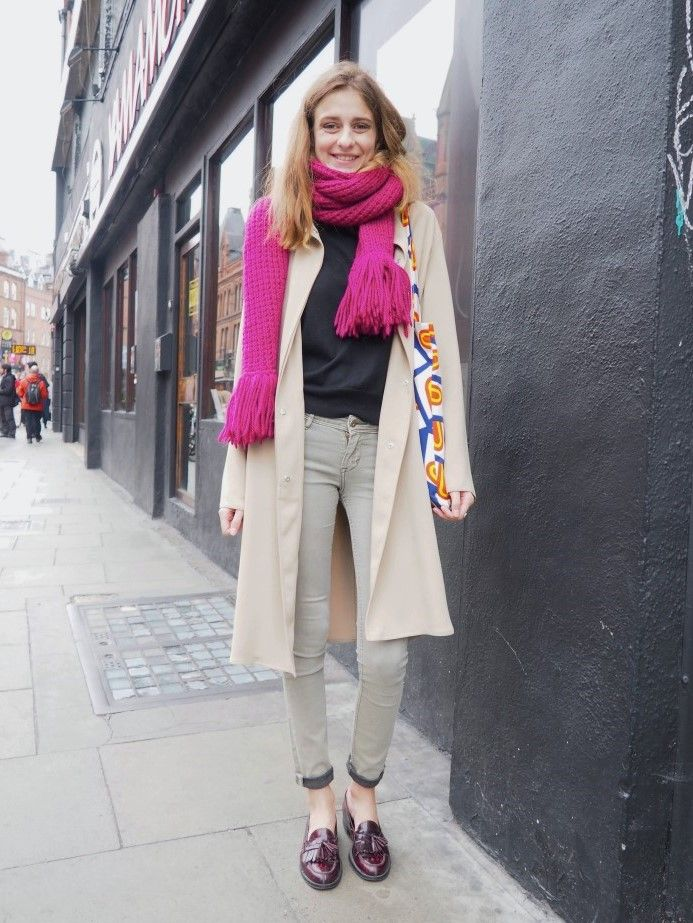 Street Style Fashion in Dublin  Coat: RAMOSPORT Top: gift from grandmother Jeans: H&M