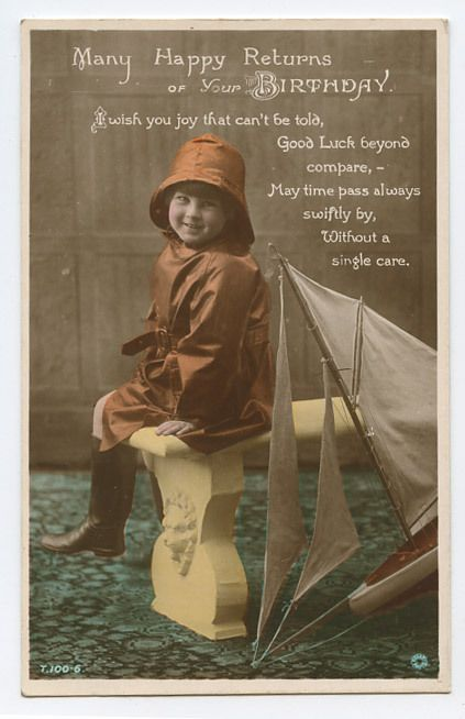 Postcard Sailor Wishes Luck