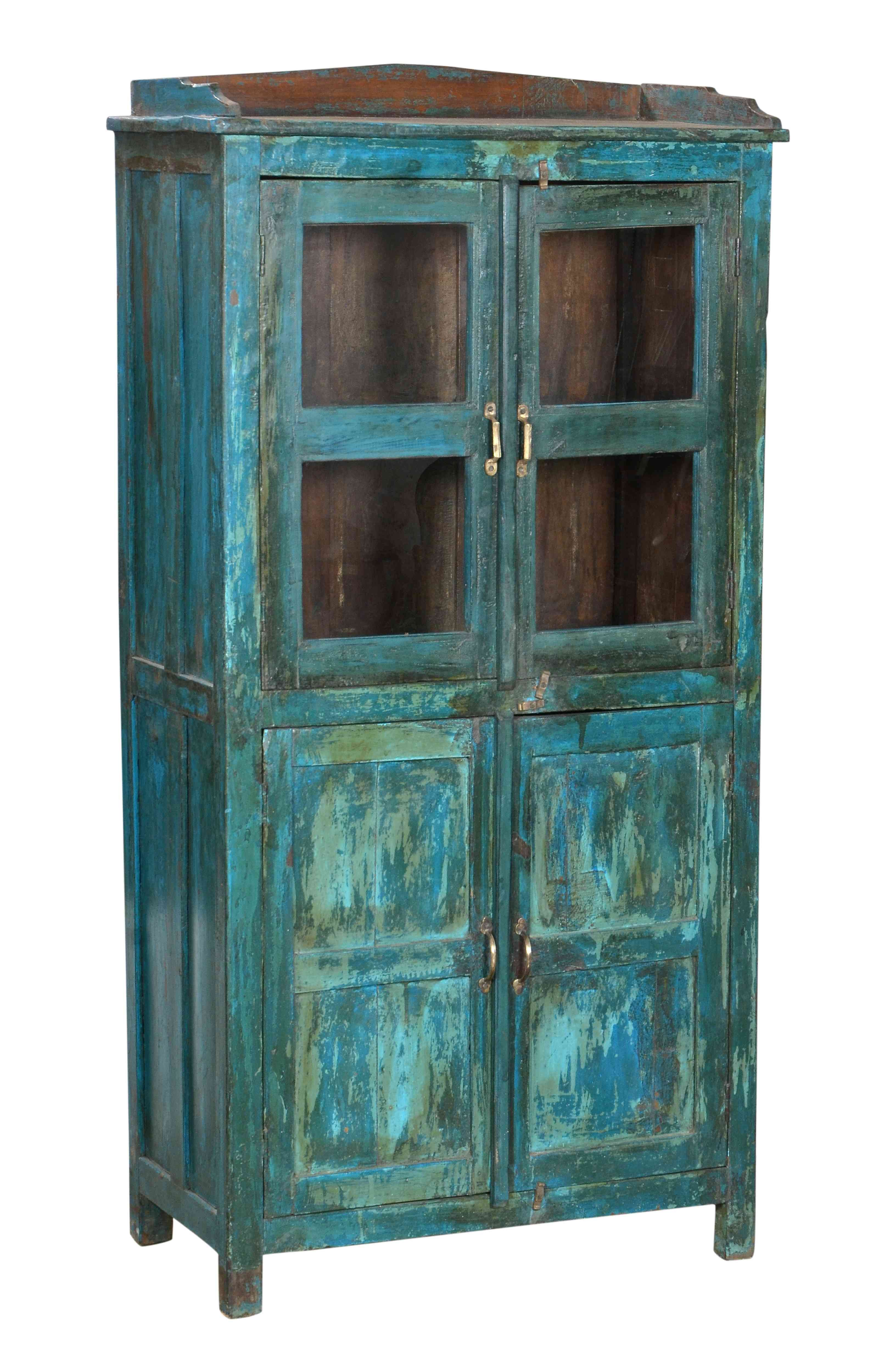 distressed blue furniture. This Beautiful Indian #antique Reminds Me Of The Ocean With Its Amazing Distressed Blue Throughout Furniture I