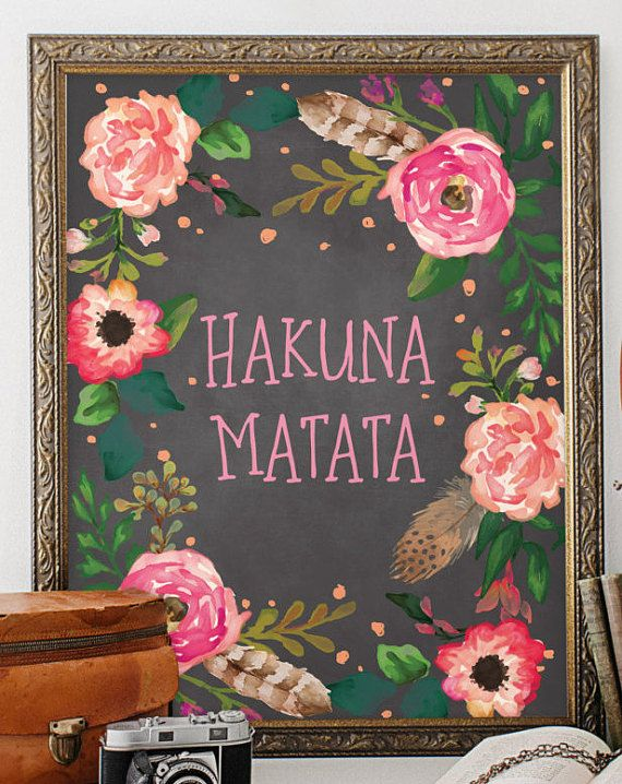 Disney Quote, Hakuna Matata, Nursery Decor, Baby Girl ...
