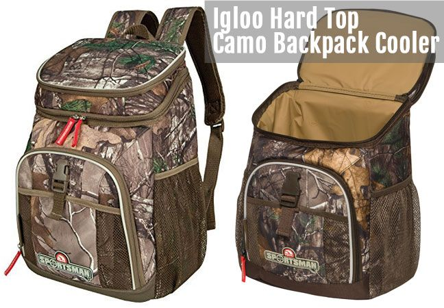 the igloo realtree camouflage backpack cooler comes in 2 styles and you can use them - Backpack Coolers
