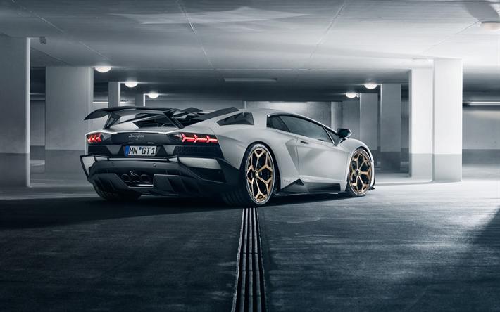 Scarica Sfondi Lamborghini Aventador Novitec Bloccato 2018