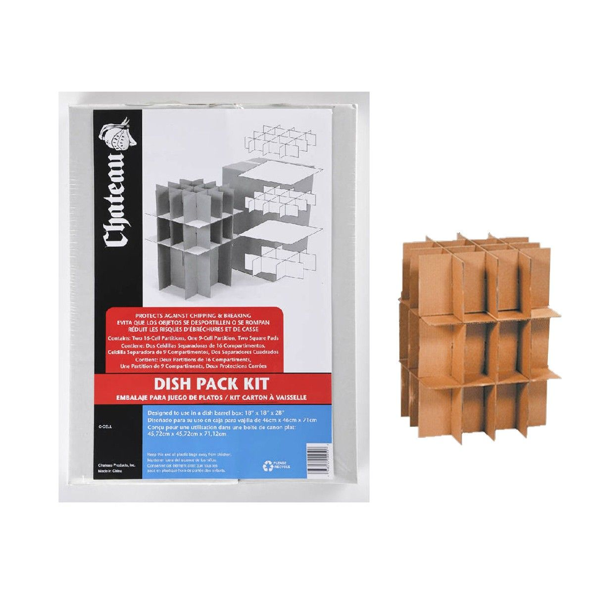 Dish Amp Amp Glass Pack Partition Kit 4 Sets Amp Nbsp Each