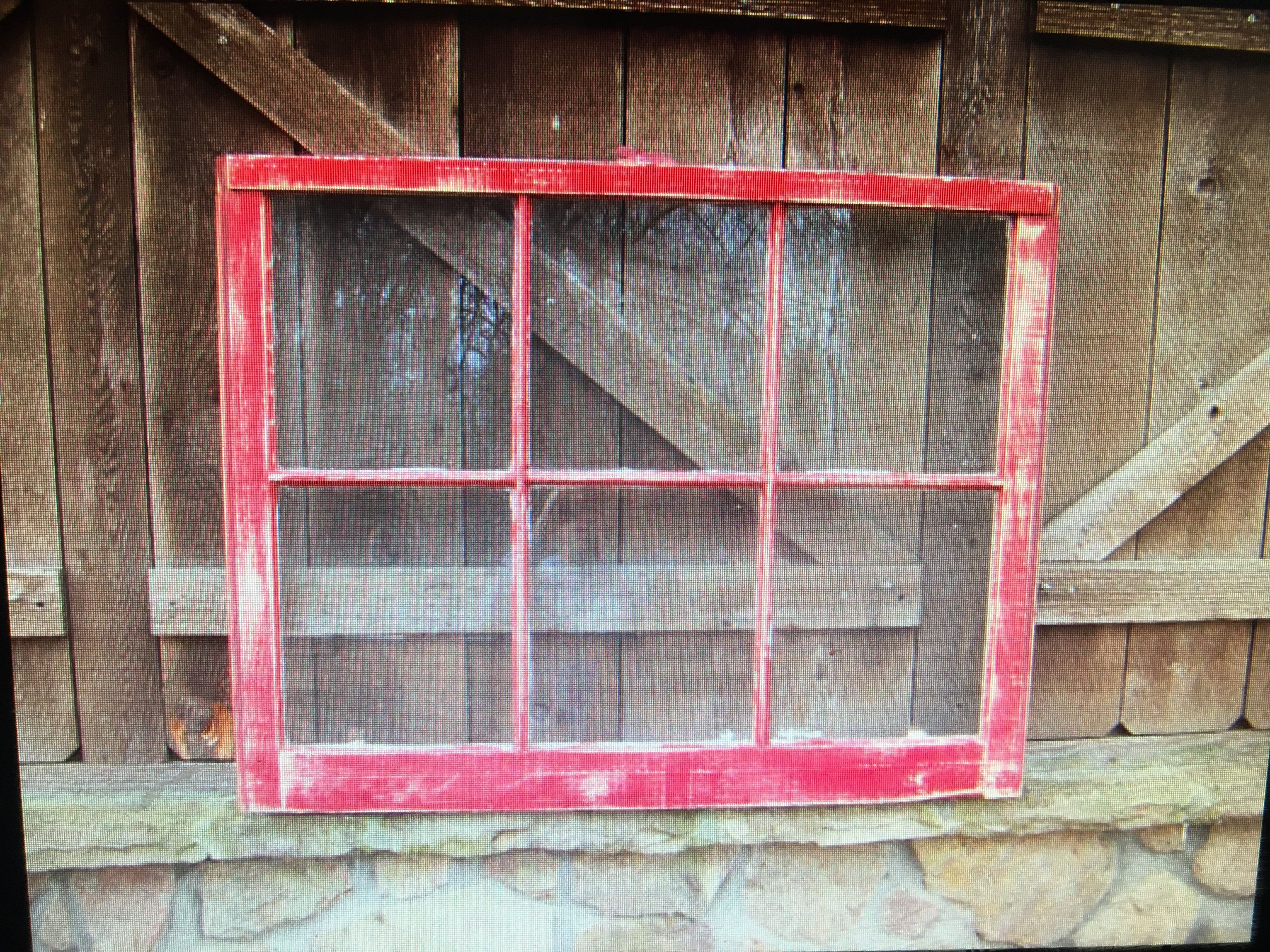 Some Ideas For Repurposing Your Old Windows After Replacing Them Red Distressed Window Sash Old Window Projects Window Projects Old Window Decor