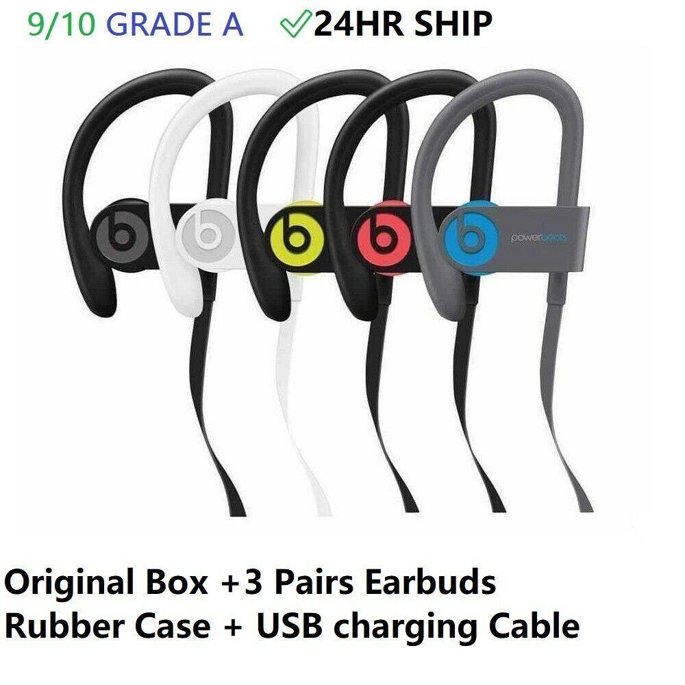 Beats By Dr Dre Powerbeats 3 Wireless In Ear Headphones Yellow Black Blue Red Apple Wireless In Ear Headphones Bluetooth Headphones Wireless Black Headphones