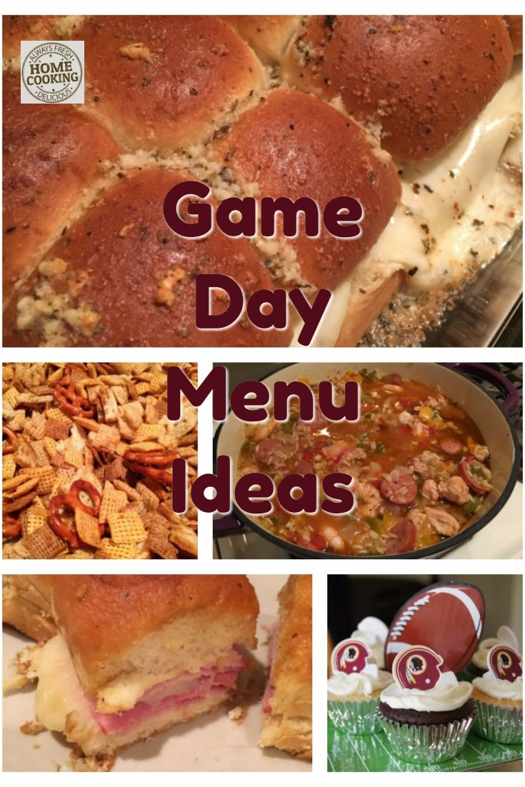 Game Day Menu Recipes Food Pinterest Menu Food Menu And Recipes