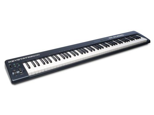 M Audio Keystation 88 II  UltraPortable 88 Key USBMIDI Keyboard Controller with Synth A