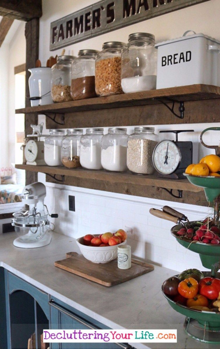 Declutter Your Kitchen - DIY Shelves To Organize a Country ...