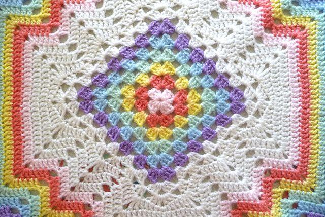 Ravelry: buttercup11\'s ** Crochet Rainbow Baby Blanket | Crochet ...