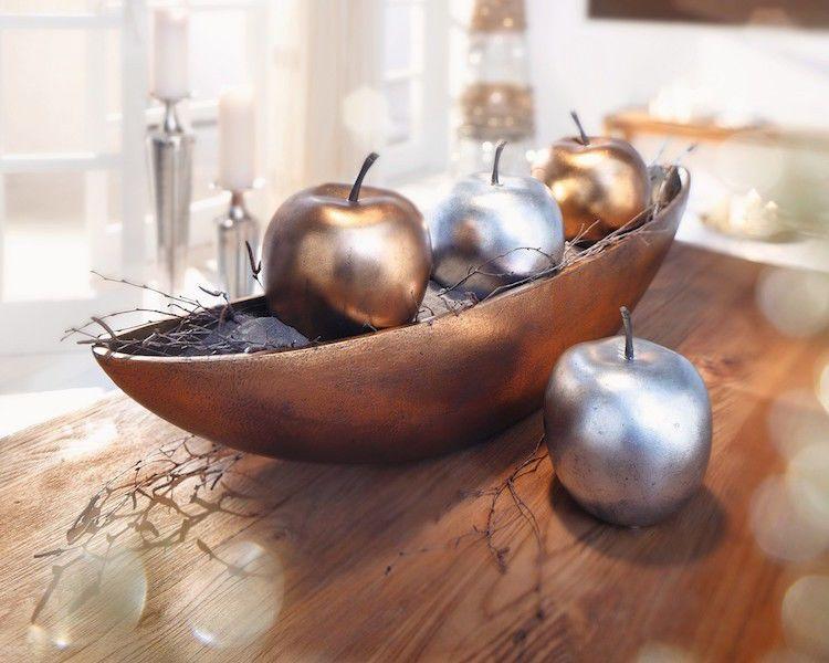 """Weihnachtsdeko Kupfer deko-apfel """"metallic"""" kupfer steindeko steinapfel weihnachten"""