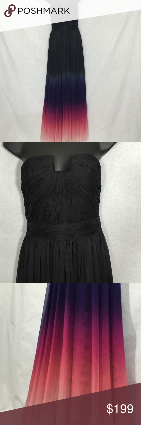Gorgeous halston ombré gown nwt halston heritage black tie and