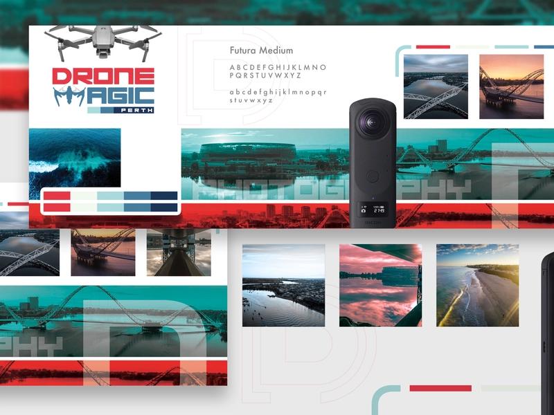 Stylescape Graphic Design: Brand Identity Stylescape 2 - Drone Magic Perth