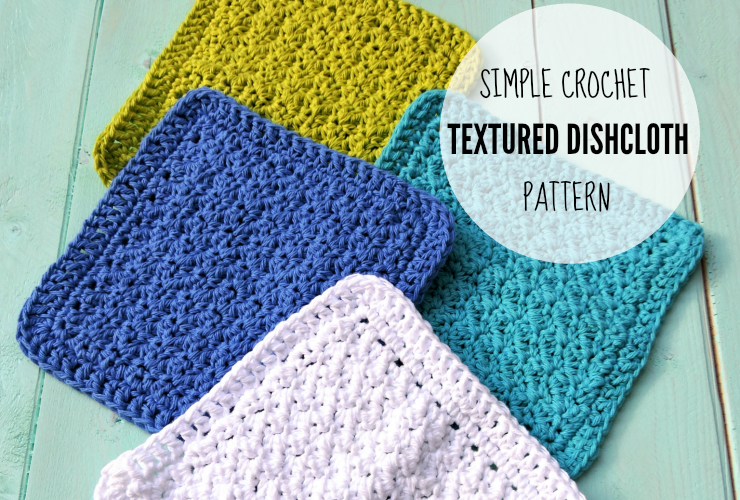 Crochet Textured Dishcloth Pattern - Free Pattern by   Paños y Color