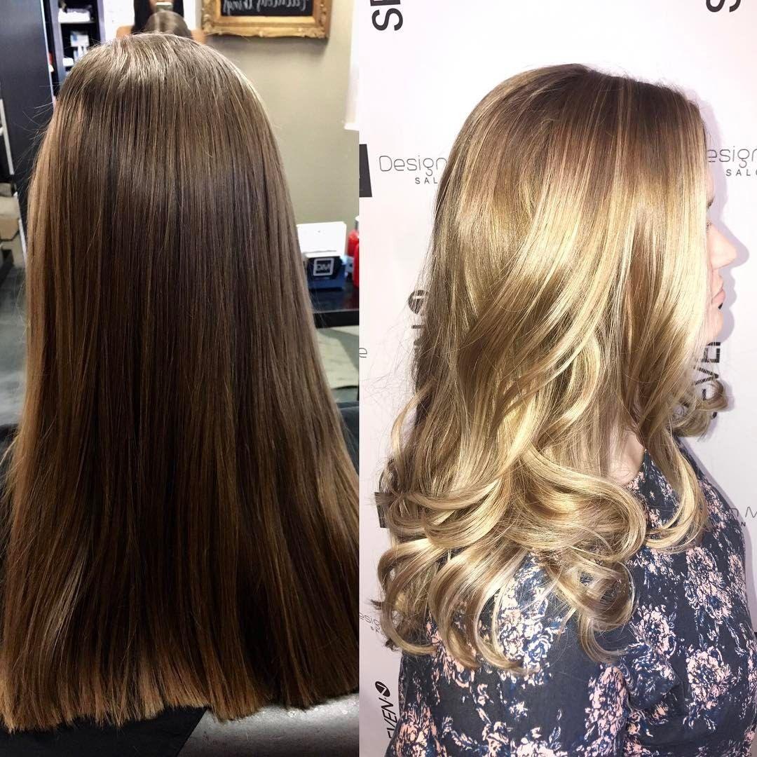 Balayage beauty - Mikayla Alioto (@hairby.mikayla) #sunkissed #balayage #sevenhaircare #blondegoals #redkenshadeseq