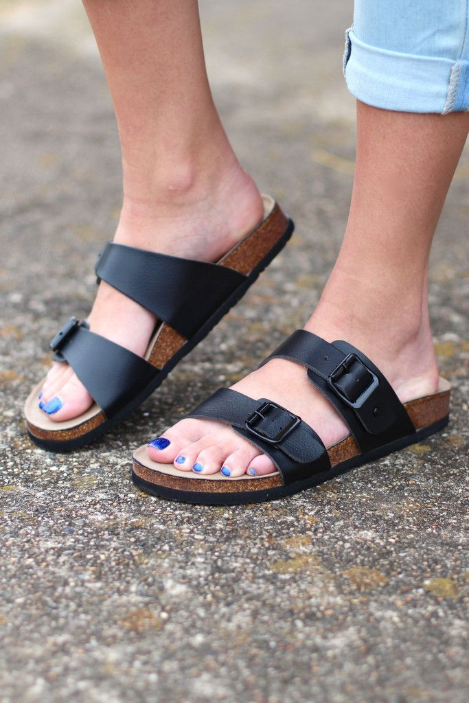 d214cabbe099 Madden Girl  Brando Slide On Sandals  Black  – The Fair Lady Boutique