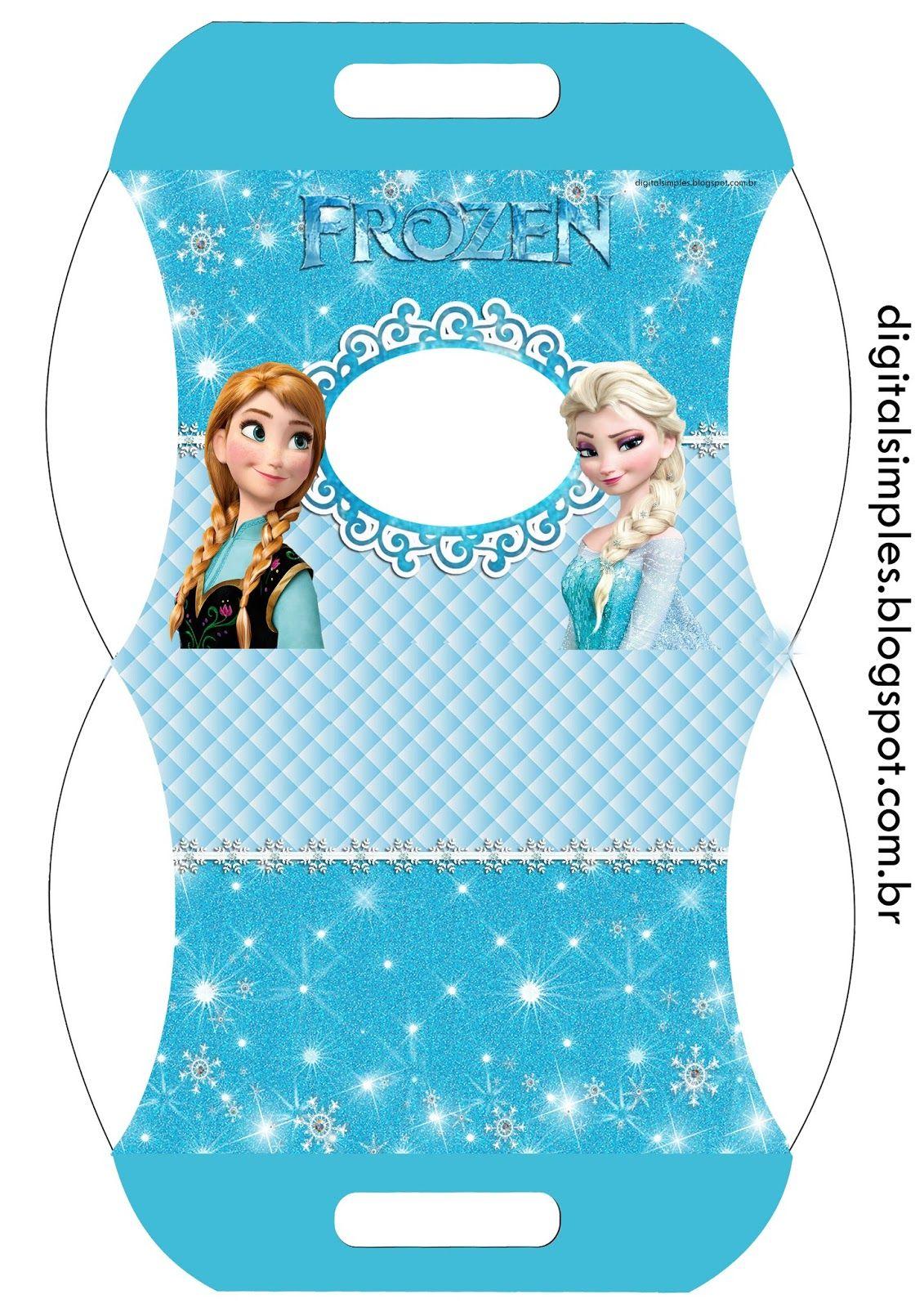 Festa Tema Frozen para Imprimir Grátis - Convites Digitais Simples