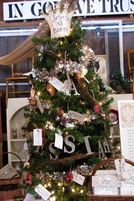 Vintage And Company The Jesus Tree Jesus Tree Diy Christmas Tree Ornaments Jesus Christmas Decorations