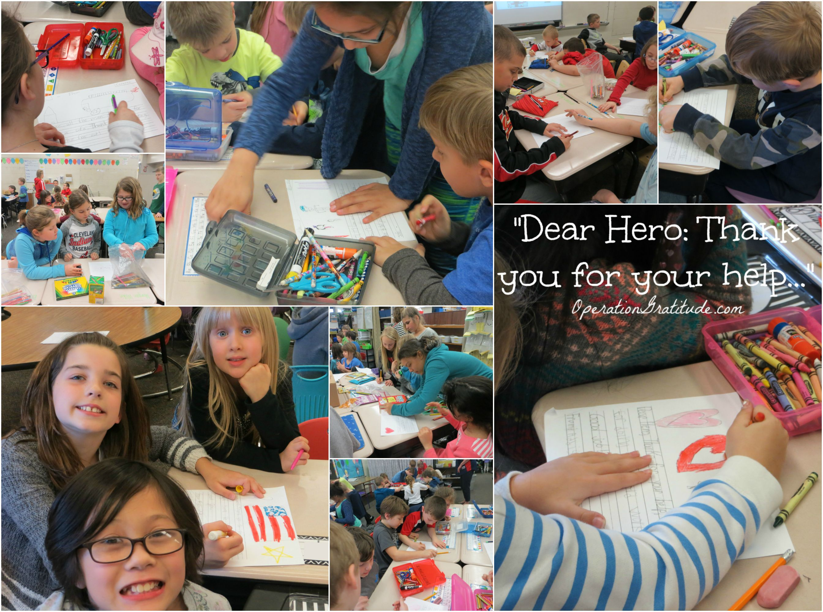 Operation gratitude on troops were grateful for the orchard hollow students who wrote 200 thank you letters to the troops aljukfo Gallery