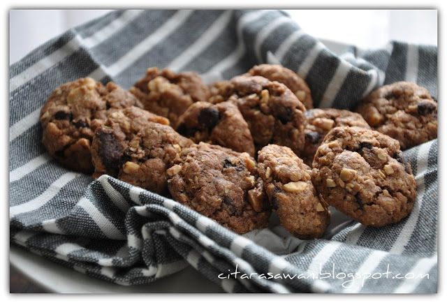 Biskut Famous Amos Oatmeal Crunchy Cookies Resipi Citarasawan Resep Biskuit Serikaya Kreker