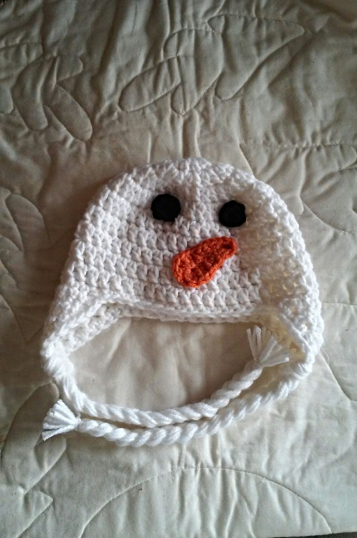 Snowman crochet hat , photo prop , baby shower gift ...