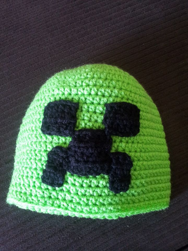 Minecraft Creeper Hat | For the boys | Pinterest | Tejido, Gorros y ...
