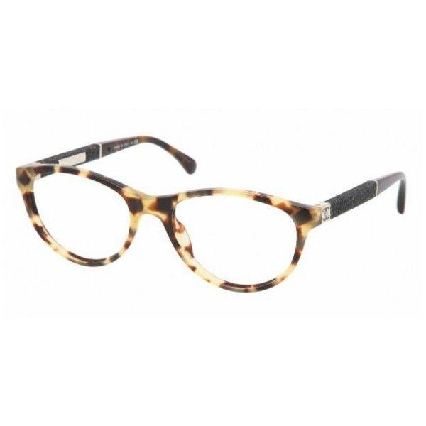 ebbc76f6b2e Chanel Glasses CH3192 1172 YELLOW HAVANA ( 230) found on Polyvore ...
