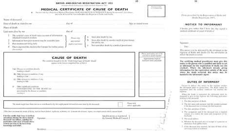 Verification And Certification Of Death An Introduction For