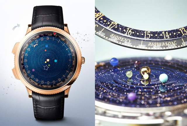 Watch the entire solar system rotate (very slowly) around your wrist.