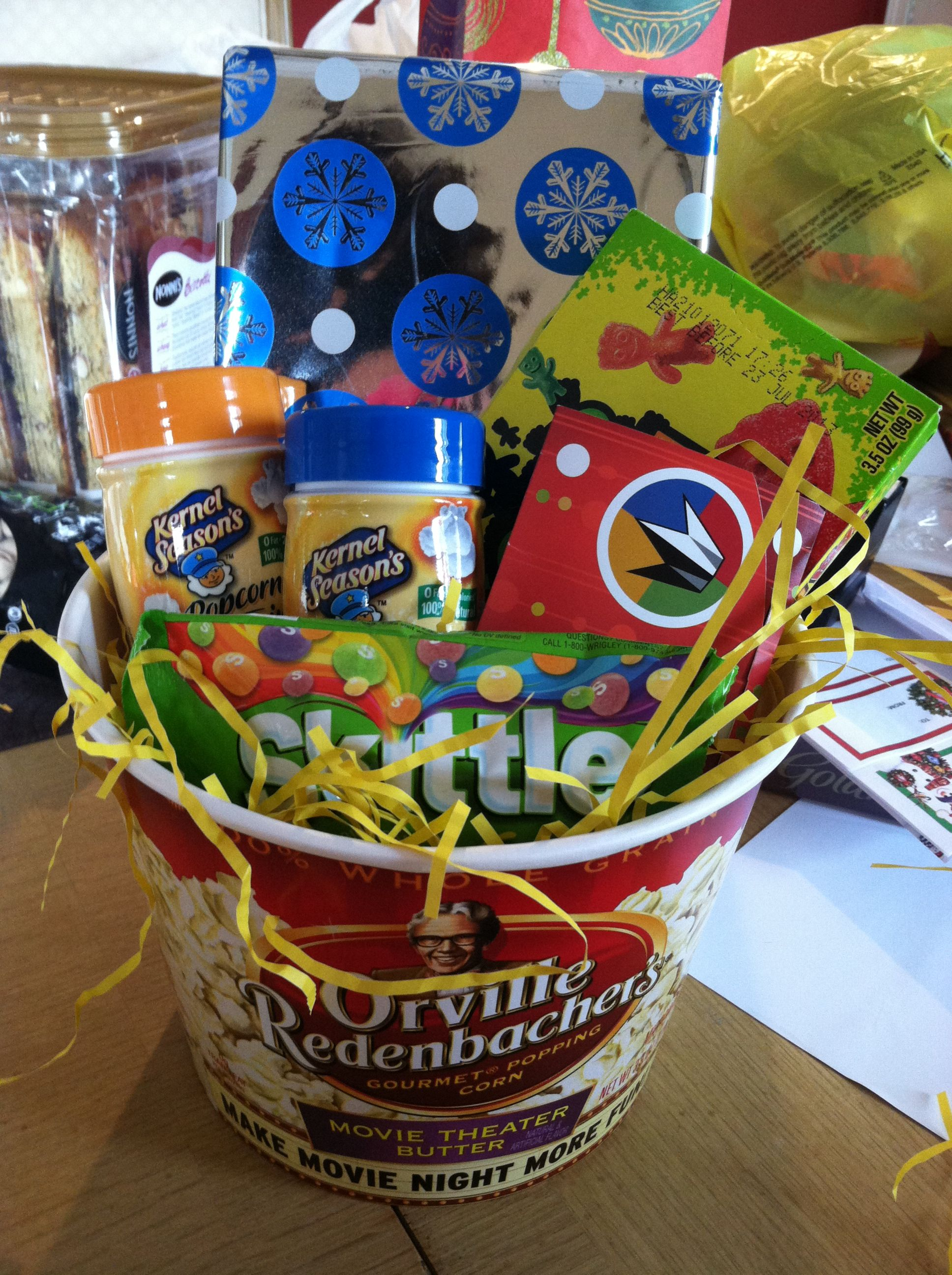 Movie Gift Basket Orville Popcorn Bucket From Target Came With