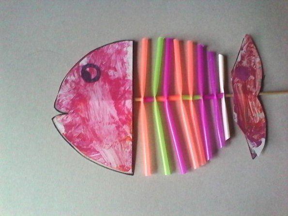 Sehr bricolage-poisson-avril-avec-paille-en-plastique-2 | Projets à  FP94