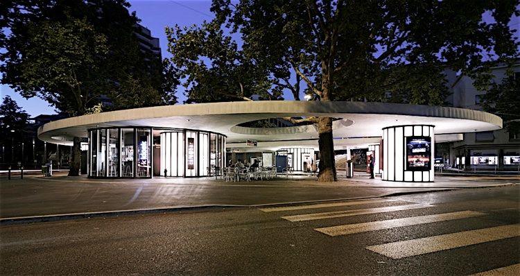 Haltestelle limmatplatz z rich by baumann roserens arch for Innenarchitektur emsdetten