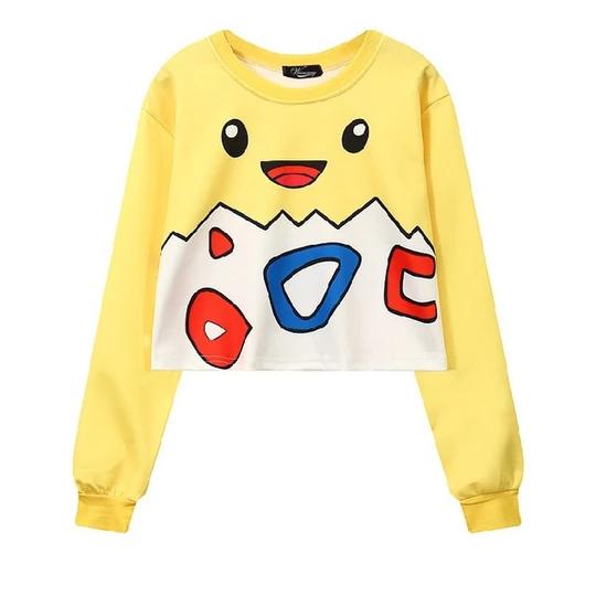 Harajuku Womens Oversized Cartoon Plus Size Pikachu Sweater Sweatshirt Hoodie