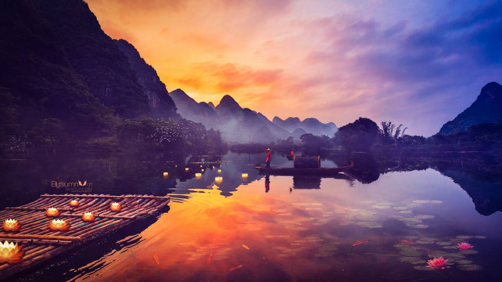 Lotus Lake By Ellysiumn On Deviantart Landscape Wallpaper Image Painting Zen Wallpaper