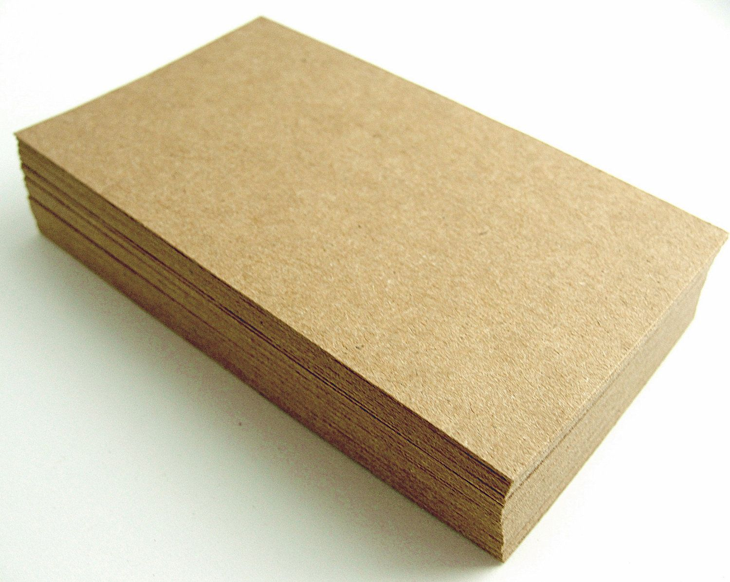 100 Brown KRAFT Paper Cardstock Business Cards by KatsPaperTrail ...
