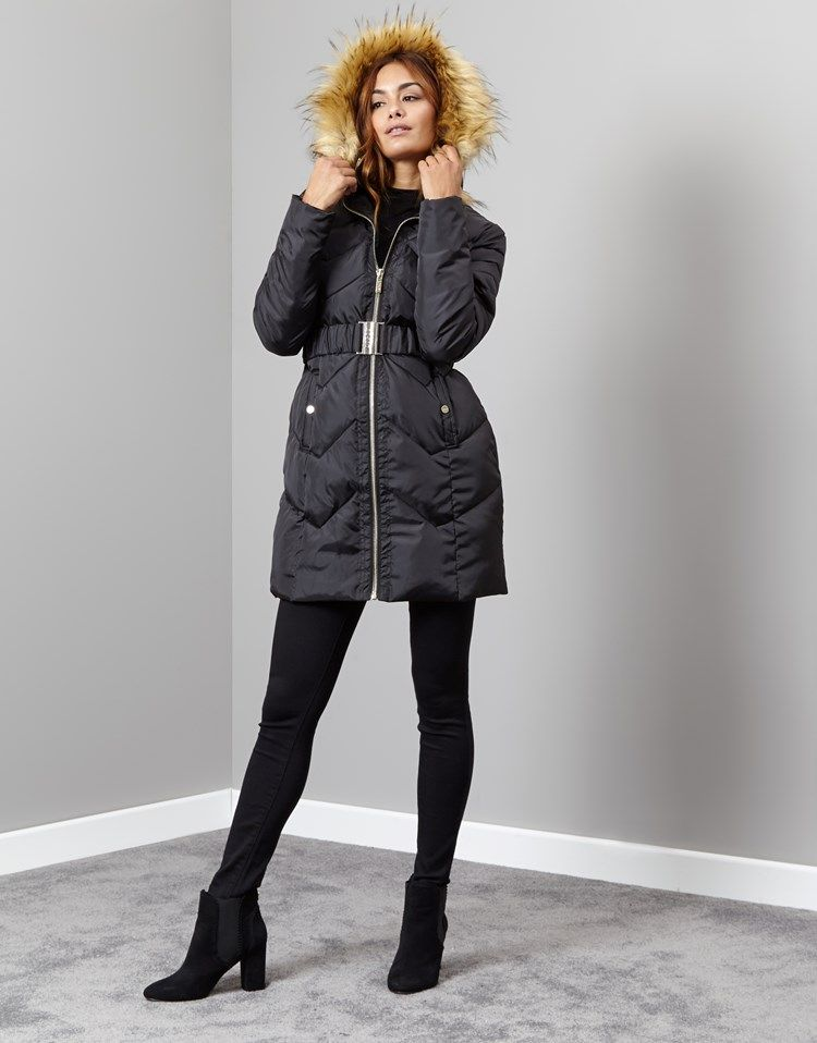 very nice Lipsy Quilted Long Puffer | 2016/17 new season long ...