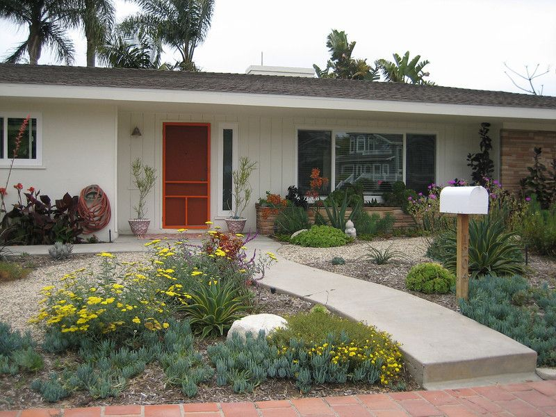 Majestic Drought Tolerant In Landscape Design Photo  Gallery Backyard Landscaping This after photo of a front yard that went from plain lawn to